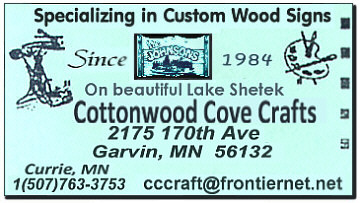 Cottonwood Cove Business Card